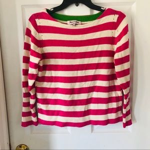 Girls juicy couture pink striped sweater
